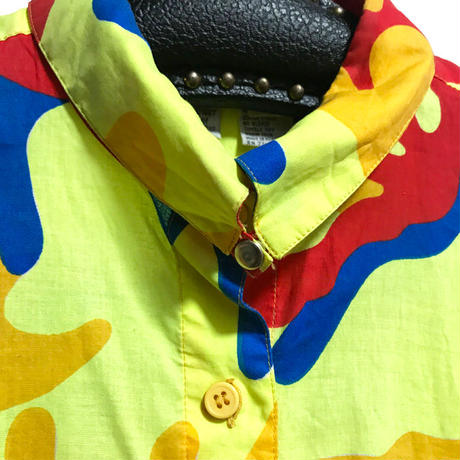 【USED】80'S STEPHEN SPROUSE × ANDY WARHOL MALTI CAMO S/S SHIRT