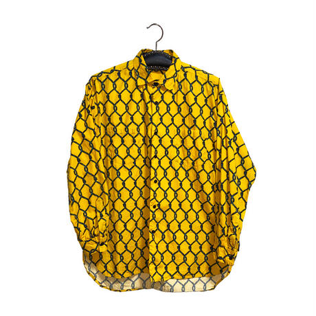 【USED】80'S STEPHEN SPROUSE WIRE MESH FENCE PATTERN SHIRT