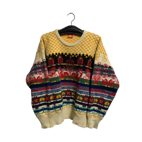 "【USED】80'S VIVIENNE WESTWOOD ""DEEP SKY"" KNIT SWEATER"