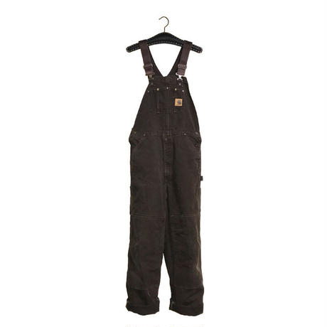【USED】CARHARTT OVERALL BROWN
