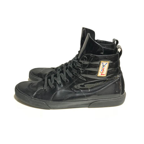 【USED】00'S YSL PATENT LEATHER SNEAKERS