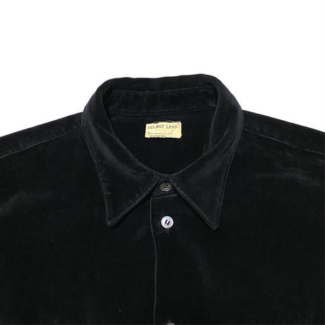 【USED】HELMUT LANG 1997 VELOUR SHIRT