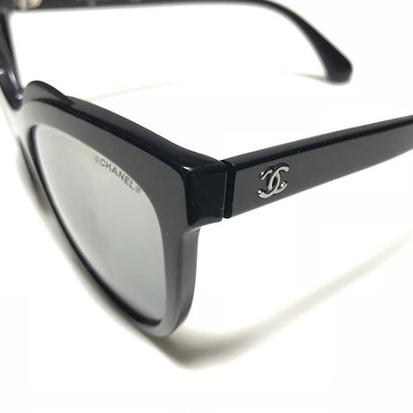 【USED】CHANEL CAMELLIA RAISED BROW SUNGLASSES