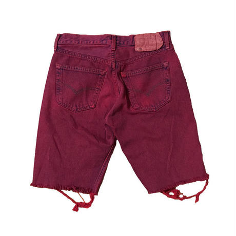 【USED】LEVI'S CUT OFF DENIM SHORTS RED