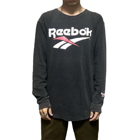 【USED】90'S REEBOK CUT-OFF NECK L/S T-SHIRT