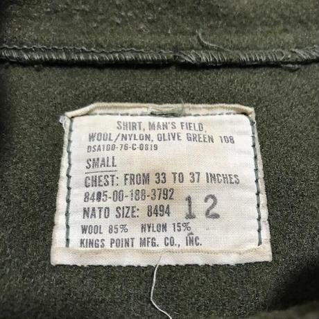【USED】70'S U.S ARMY WOOL SHIRT