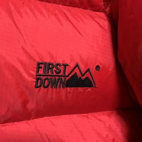 【USED】90'S FIRST DOWN HOODED DOWN JACKET