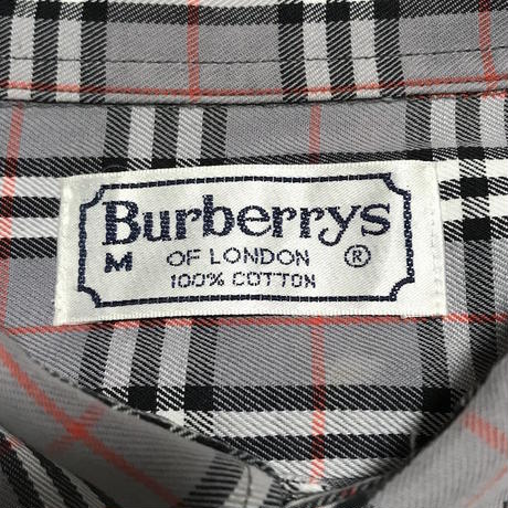 【USED】90'S BURBERRYS GRAY NOVA CHECK B.D SHIRT