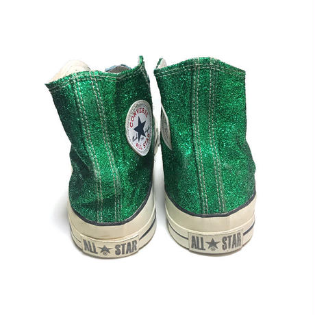 【USED】90'S CONVERSE GREEN GLITTER SNEAKERS MADE IN U.S.A.