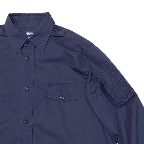 【USED】90'S STUSSY UTILITY POCKET SHIRT