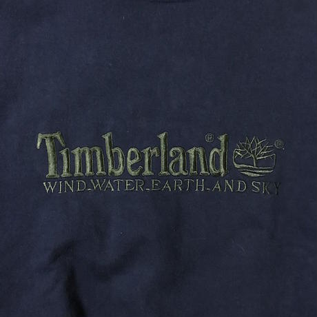 【USED】90'S TIMBERLAND EMBROIDERY SWEATSHIRT