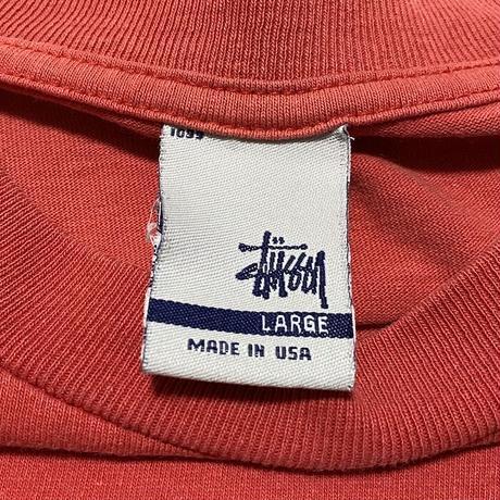 【USED】90'S STUSSY APPLE LOGO T-SHIRT