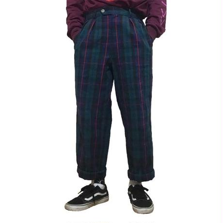 【USED】2TACK CHECK TROUSERS