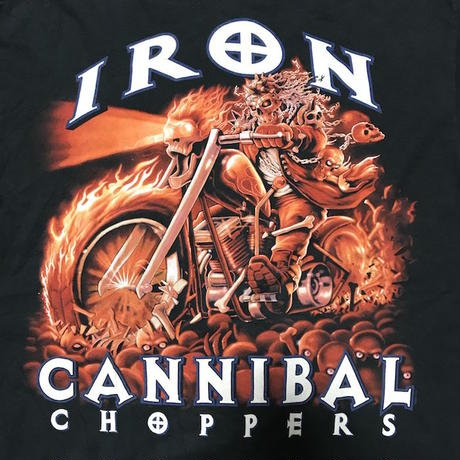 【USED】00'S IRON CANNIBAL CHOPPERS T-SHIRT