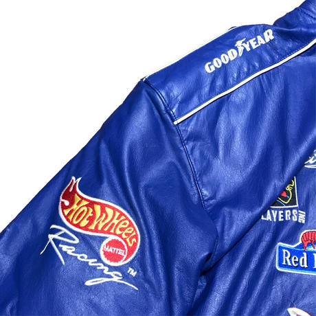【USED】90'S JEFF HAMILTON JH DESIGN SUPER OVERSIZED LEATHER RACING JACKET
