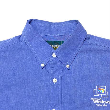 【USED】00'S WINDOWS WIN64 MICROSOFT OVERSIZED B.D. SHIRT