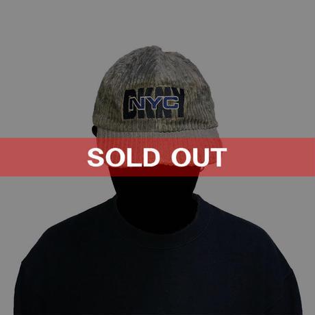 【USED】90'S  DKNY WIDE WALE CORDUROY CAP