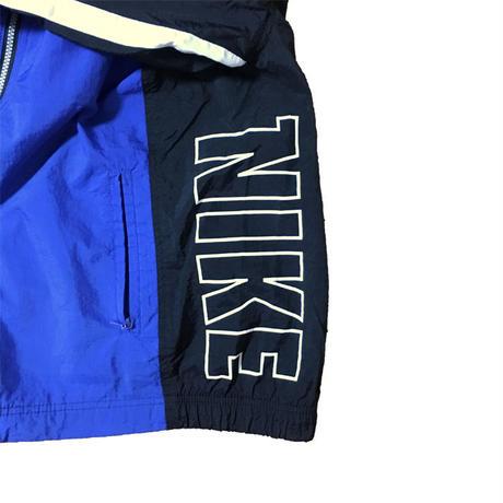 【USED】90'S NIKE NYLON JACKET BLUE×BLACK