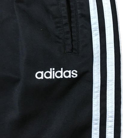 【USED】90'S ADIDAS 3-STRIPE LOGO SNAP TRACK PANTS
