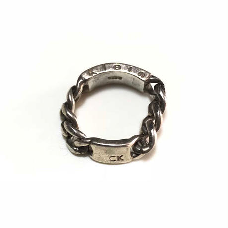 【USED】90'S CALVIN KLEIN FLAT LINK CHAIN SILVER RING