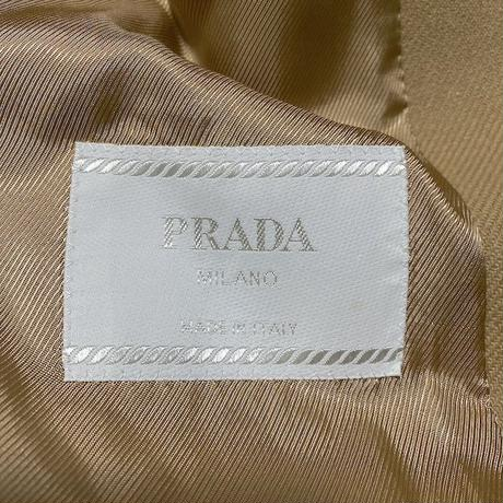 【USED】PRADA WOOL COAT CAMEL