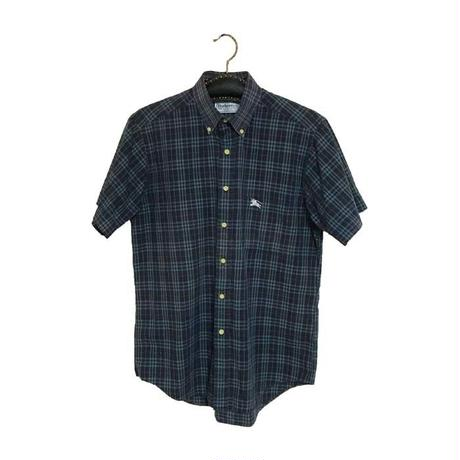 【USED】90'S BURBERRYS CHECK S/S SHIRT NAVY
