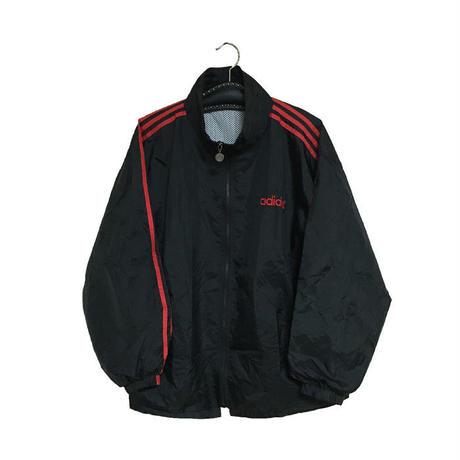 【USED】90'S ADIDAS NYLON JACKET BLACK × RED