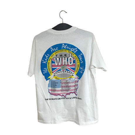 【USED】80'S THE WHO 25TH ANNIVERSARY TOUR T-SHIRT