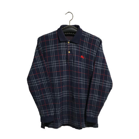 【USED】90'S BURBERRYS NOVA CHECK L/S POLO-SHIRT
