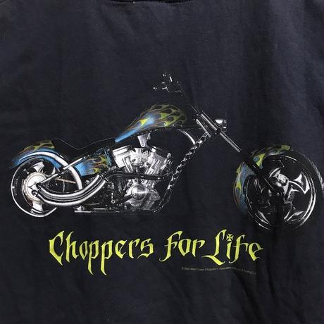"【USED】00'S WEST COAST CHOPPERS T-SHIRT ""CHOPPERS FOR LIFE"""