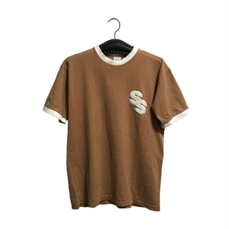 【USED】90'S STUSSY RINGER T-SHIRT MADE IN AUSTRALIA