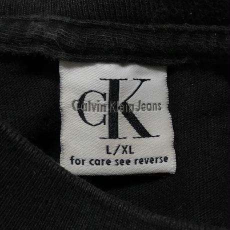 【USED】90'S CK CALVIN KLEIN JEANS L/S T-SHIRT MADE IN USA