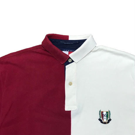 【USED】90'S TOMMY HILFIGER BICOLOR POLO SHIRT