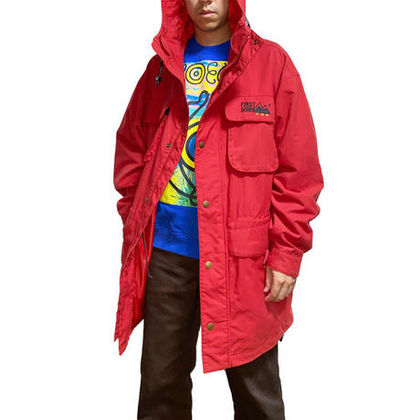 【USED】90'S FIRST DOWN MOUNTAIN JACKET RED