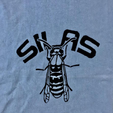 【USED】00'S SILAS FELT PRINT BEE T-SHIRT