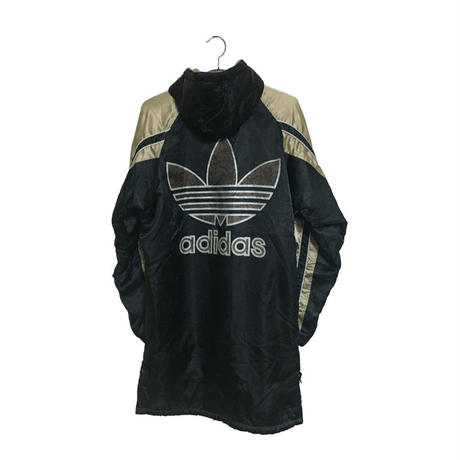 【USED】90'S ADIDAS OLD SCHOOL COAT BLACK×GOLD