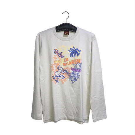 【USED】90'S WORLDS END CLASSICS MALCOLM MCLAREN × KEITH  HARING L/S T-SHIRT