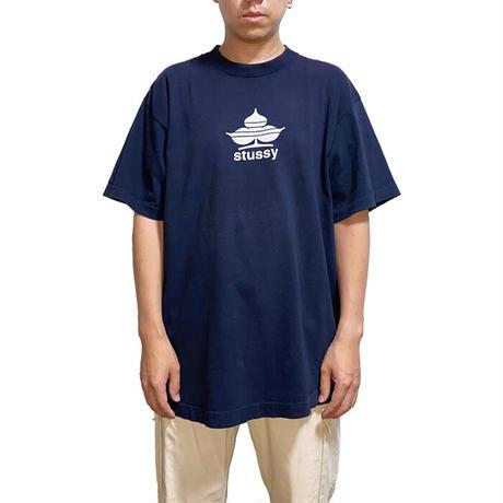 【USED】90'S STUSSY CLUB MOTIF LOGO T-SHIRT
