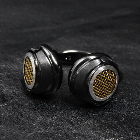 ヘッドフォンリング−ブラックゴールドメッシュ−
