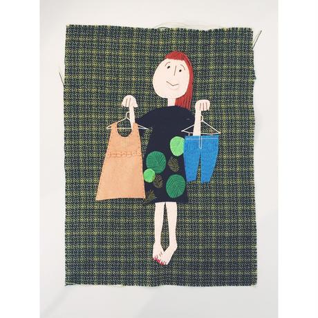 糸と布で描くシリーズ「コーディネート」