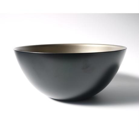 モダンスタイル サラダボール 黒銀刷毛目(サーバー付)
