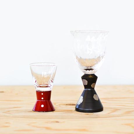 麗しグラス 冷酒グラス 黒片身替り