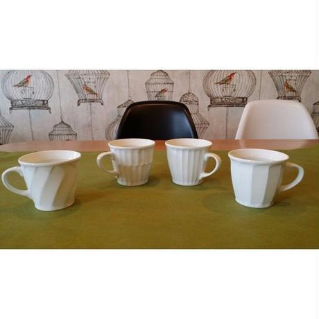 波佐見焼 一真窯     白磁「マグカップ」4種類