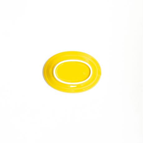 小皿 全3種 黄(黄交趾釉)