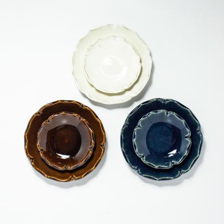 輪花 小皿 全3色
