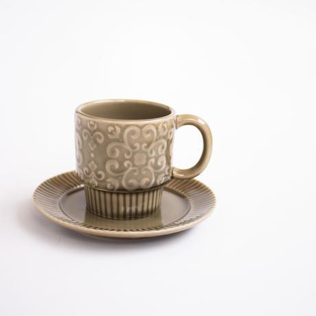 花柄 レリーフ マグカップ 全3色
