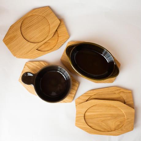 グラタン敷 栗の木  マーガレット柄 グラタン皿専用 全2種