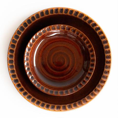 リムしのぎ皿 大 全3色