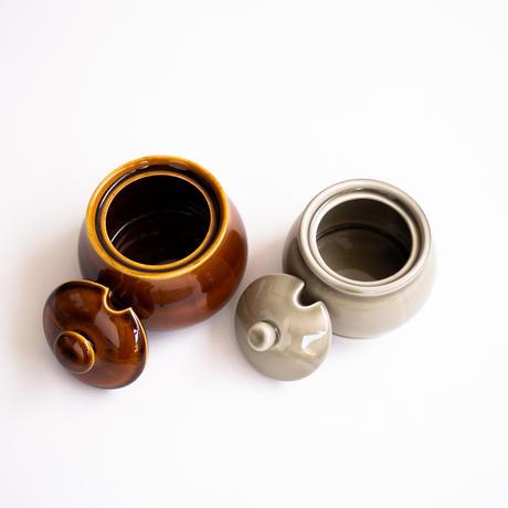 シュガーポット 大 茶 飴釉