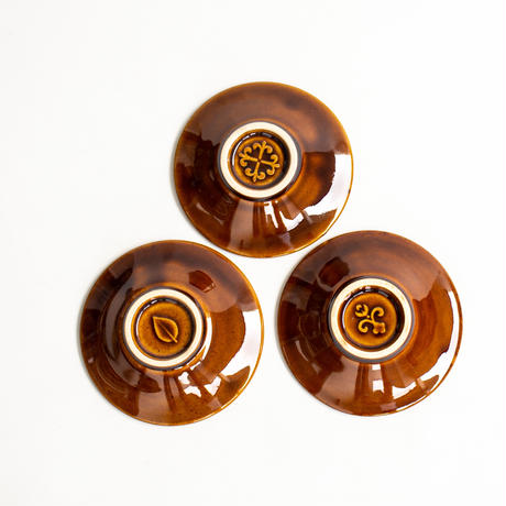 レリーフ 小皿 豆皿  全4色 × 3種